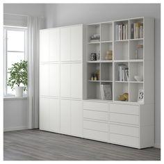 IKEA - EKET Storage combination with feet white/light gray