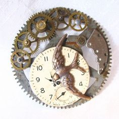 Steampunk brooch pin