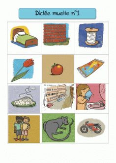 La dictée muette Le principe : écrire le nom de ce qui est représenté sur l'image avec des lettres, un atelier silencieux et très intéressant pour l'aquisition des sons en phonologie French Teaching Resources, Teaching French, Teaching Tools, Learning To Write, Kids Learning, French Education, French Immersion, French Teacher, Montessori