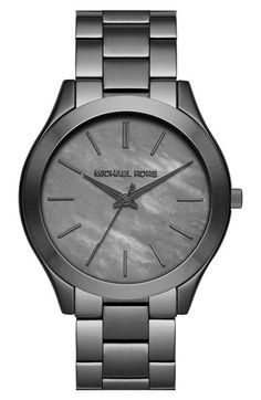 PERFECT WATCH...seriously though. Would get this over the black anyday. MICHAEL Michael Kors Michael Kors 'Slim Runway' Bracelet Watch, 42mm available at #Nordstrom