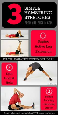 22 best tight hamstrings stretches images  tight