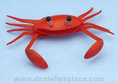 Ha! Crab Made with Plastic Spoons--*maybe not appropriate for a preschool setting since it requires fire.* But really adorable!