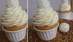 Fantastické vanilkové muffiny s RAFFAELLO krémem | NejRecept.cz Cap Cake, Muffin Recipes, Cupcake Cookies, Coffee Break, Croissant, Sweet Recipes, Muffins, Cheesecake, Deserts