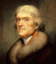 Thomas Jefferson. Painting by Peale Rembrandt Peale in 1805 (New York Historical Society)