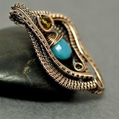 Nicole Hanna Jewelry | Wire Wrapped Chalcedony Open Wave Pendant | Online Store Powered by Storenvy