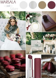 marsala and silver inspired rustic fall wedding colors