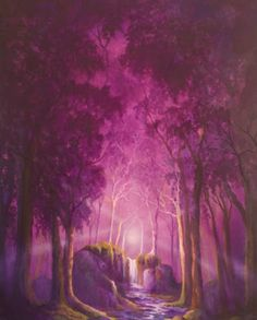 Zena Rowland -Lilac Wood ( oil on canvas )