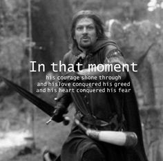 """People are all """"I'm not ready to see Thorin, Fili, & Kili die"""" but here I am not even over Boromir yet."""