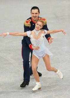 Russia's Tatiana Volosozhar and Maxim Trankov. Great technical skaters but they never grab me. No passion.