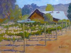 Talbot Vines, Carmel Valley by Patricia Huber Oil ~ 12 x 16