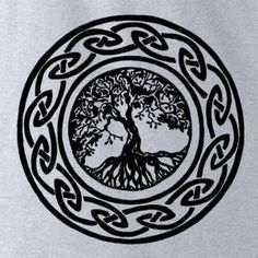 Irish Tree of Life - The Tattoo Collection - heather - womens fitted tshirt via Etsy/