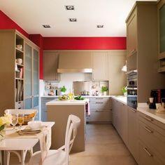 Pastel Tonlarda Mutfak Dekorasyonu...