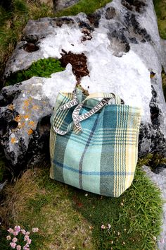 Our NEW Joanna MacDonald Utility Bag, shot in The Burren, Ireland. Made from strong carpet material and the perfect size for a day out in town, ANTA Utility Bags are a stylish and enduring accessory.