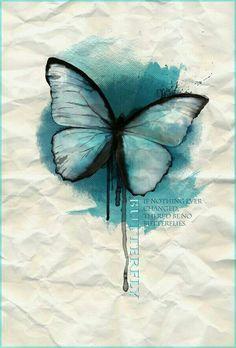 Mariposa azul dibujo