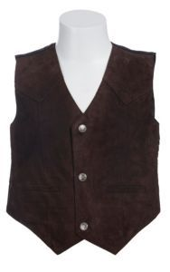 Scully Kids Chocolate Brown Suede Western Cut Vest | Cavender's