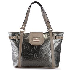 Coach In Printed Signature Large Silver Totes AZT