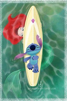 Ariel and stitch!!