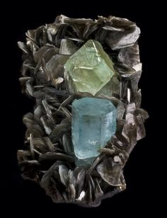 Aquamarine and Fluorite