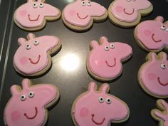 Peppa Pig Birthday Party Cookies- Butterella's