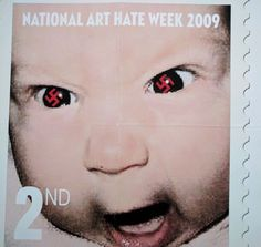 James Cauty art hate 2nd class Swastika Eyes Angry Baby Limited edition Giclee