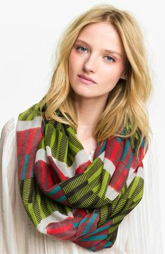 Echo 'Bright Woven Stripe' Infinity Scarf available at Nordstrom
