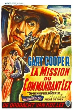 SPRINGFIELD RIFLE (1953) - Gary cooper - Directed by Andre De Toth - Warner Brothers - German Movie Poster.