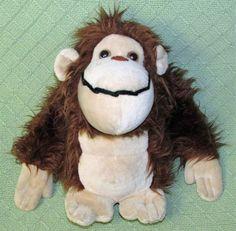 "Vintage GIPPER 1977 11"" Russ Plush Stuffed Hairy APE Gorilla Monkey Ape Stuffed  #Russ"