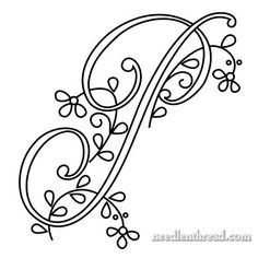 Monogram P for Hand Embroidery from Mary Corbet