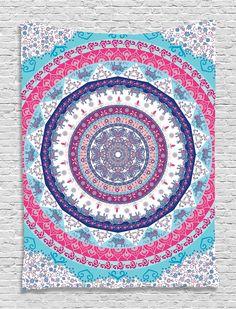 6481189fe Ethnic Tribal Indian Nepal Bohemian Hippie Hippy Yoga Zen Circle Pattern  Life Cycle Mandala Digital Printed Tapestry Wall Art Hanging Wall Tapestry  Living ...