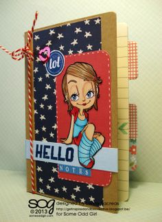Small notebook made by Lenny Sacreas using Chill Kaylee (digi) and Make a Statement (clear)