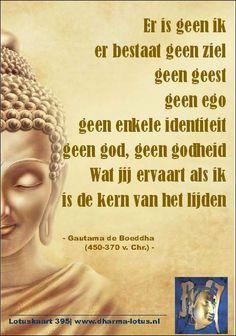 Deze uitspraak heeft Gautama de Boeddha veelvuldig gedaan en raakt gelijk de kern van de Dharma en daarmee het Boeddhisme. Het laat ook gelijk het verschil zien met andere geloven en filosofieën; het Boeddhisme is met deze visie uniek. www.dharma-lotus.nl