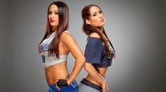 The Bella Twins Bella Bowl IV WWE Photo Shoot