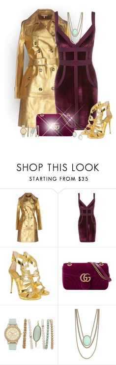 """""""Velvet Love"""" by laaudra-rasco ❤ liked on Polyvore featuring Michael Kors, Giuseppe Zanotti, Gucci and Jessica Simpson"""
