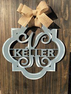 A personal favorite from my Etsy shop https://www.etsy.com/listing/499314918/quatrefoil-door-hanger-monogram-door