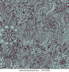 stock vector : Floral seamless pattern in retro style