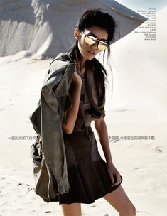 Army Chic | Ming Xi | Benny Horne #photography | Vogue China September 2012