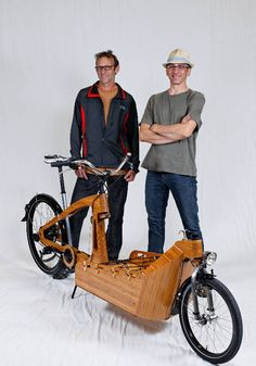 """This magnificent velocipede is a cargo bike with a body crafted exclusively from sustainable bamboo. The brainchild of industrial designer Michael Downes and master shipwright Jeff Sayler, it was created for the Oregon Manifest, a competition designed to get Portland residents out of their cars and onto two wheels."""