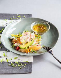 Los chefs Jared Reardon y Sonia Arias de Jaso nos comparten esta receta de sashimi de hamachi con salsa ponzu y ensalada de toronja #Recetas #FoodAndTravelMX