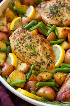 One Pan Garlic Herb Chicken and Veggies - Cooking Classy