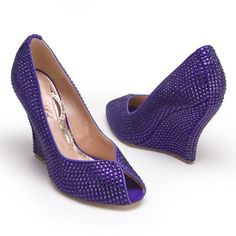 3e1e1a1376d Kimberly 110mm Wedge in Violet Swarovski