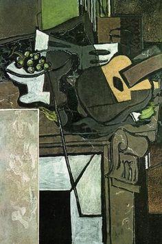 Braque, Georges - The Chimney, Cubism, Oil on canvas Picasso And Braque, Pablo Picasso, Georges Braque Cubism, Picasso Pictures, Cubist Movement, Catalogue Raisonne, Francis Picabia, Cubism Art, Jazz Art