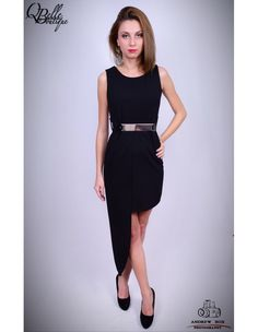 Rochie neagra asimetrica Black, Dresses, Fashion, Gowns, Moda, Black People, Fashion Styles, All Black, Dress