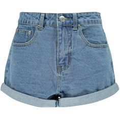 Boohoo Lisa Turn Up Baggy Style Boyfriend Denim Shorts (€18) ❤ liked on Polyvore featuring shorts, bottoms, short, pants, cotton shorts, baggy shorts, jean shorts, short jean shorts and denim shorts