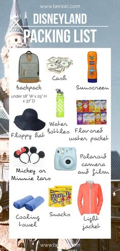 Disneyland Packing List- this is what you need to go to Disneyland without breaking the bank!  #disneyland #vacation #familytravel #packinglist #tgif