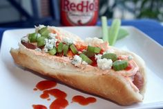Buffalo Dog and SO many other super fun hot dog ideas!
