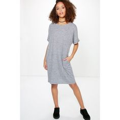 Boohoo Sammy Oversized T-Shirt Dress ($26) ❤ liked on Polyvore featuring dresses, black, t shirt dress, holiday dresses, evening dresses, tshirt dress and special occasion dresses