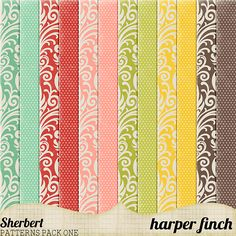 Sherbert Patterns Pack One by harperfinch in Collection of Free Photoshop Patterns