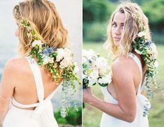 #bridalhair #bridalhairstyle #beachwedding #flowersinhair