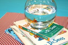 Goldfish would be great table centerpieces for Dr. Seuss Red Fish, Blue Fish  themed party.