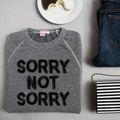 On my holiday wish list, this sweatshirt and to stop apologizing >> Bow & Drape Fall 2015